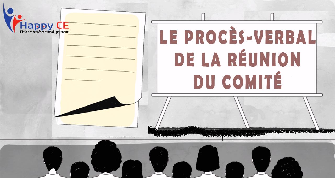Le Proces Verbal Pv De La Reunion Du Comite D Entreprise