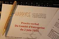 Le procès verbal (PV) de la réunion du comité d'entreprise