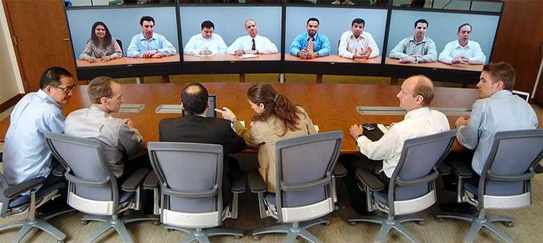 Visioconférence lors de la réunion du Comité d'Entreprise